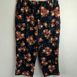 Island Traders size large floral ankle pan…